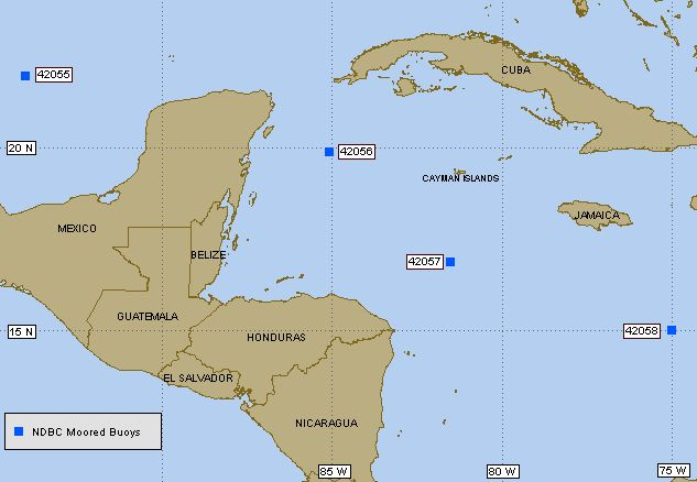 Caribbean Weather Map Live.West Caribbean Live Buoy Data Tides Waves Water Temperature And Wind