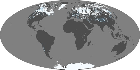 Northern Hemisphere And North America Snow And Ice Chart - Us snow coverage map