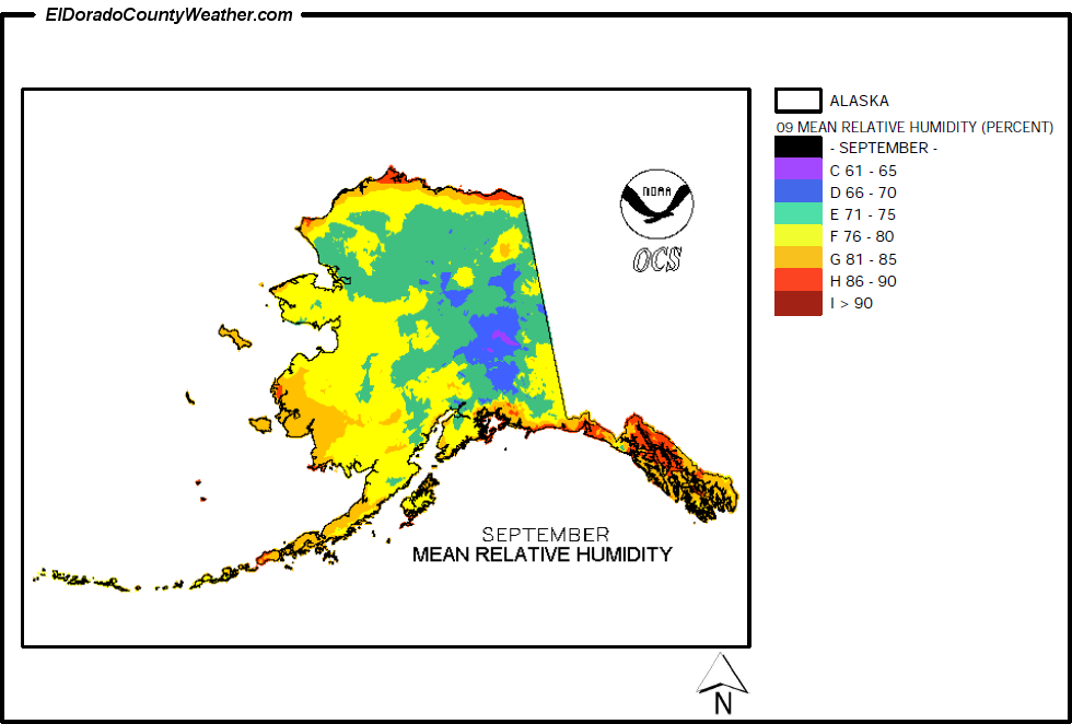 Alaska Yearly Annual And Monthly Mean Relative Humidity - Humidity map of us