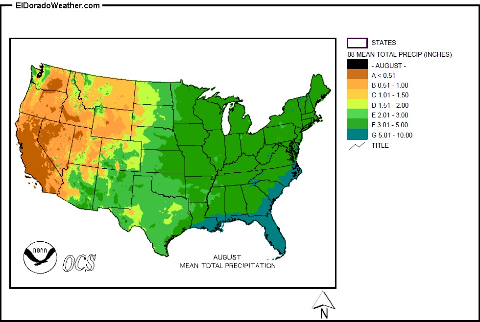 United States Yearly Annual And Monthly Mean Total Precipitation - Us precip map