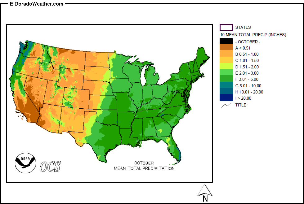 United States Yearly Annual And Monthly Mean Total Precipitation - Us literacy map