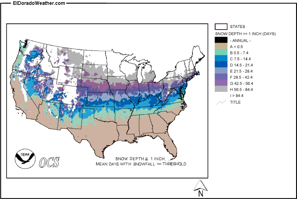 Current US Snow Cover Weathercom Us Weather Map Snow Cover US - Us snow cover map weather com