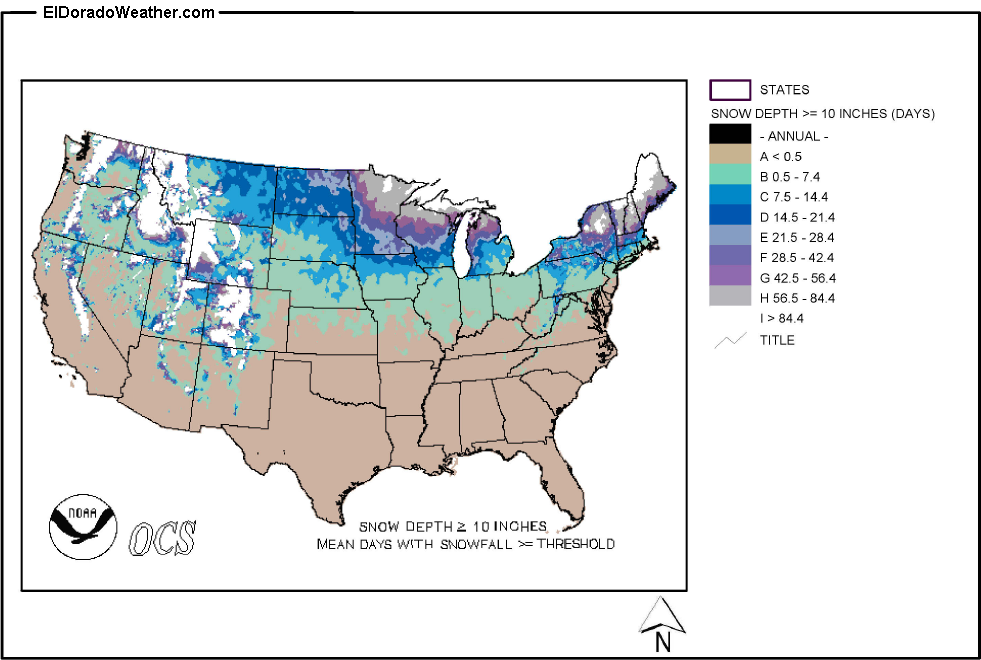 United States Yearly [Annual] Mean Number of Days with Snow ... on snowfall map usa, barometric pressure map usa, meth map usa, snake map usa, sea map usa, smog map usa, frost map usa, snow in usa, wood map usa, winter map usa, mountains map usa, spider map usa, fall color map usa, el nino map usa, star map usa, rainbow map usa, smoke map usa, rain map usa, uv index map usa, salmon map usa,
