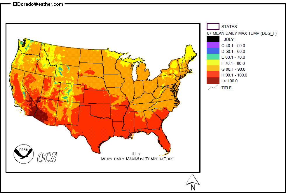 United States Yearly Annual Mean Daily Maximum Temperature For