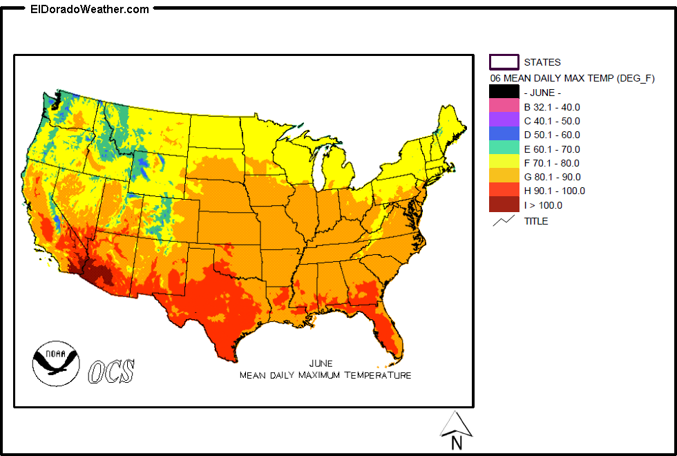 USA State Temperatures Mapped For Each Season Current Results - Us summer temperature map
