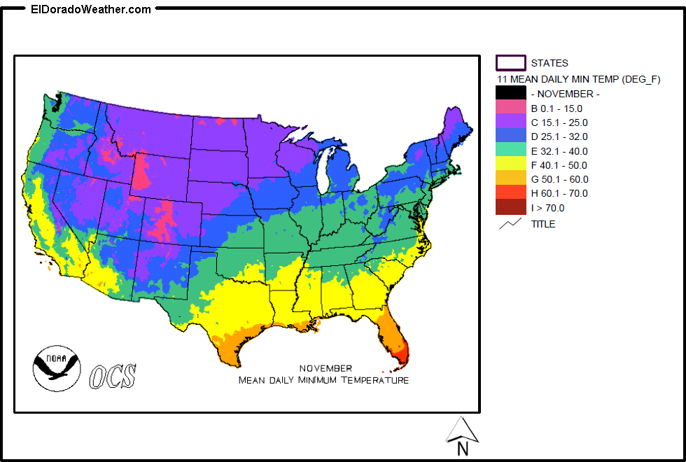 US Temperature January Map National Climate Report January - Average temperature map usa