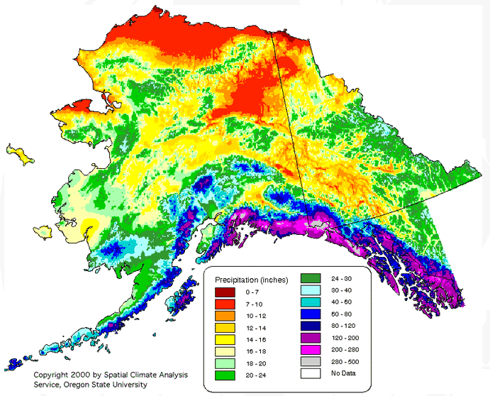 Alaska, United States Average Annual Yearly Climate for ...
