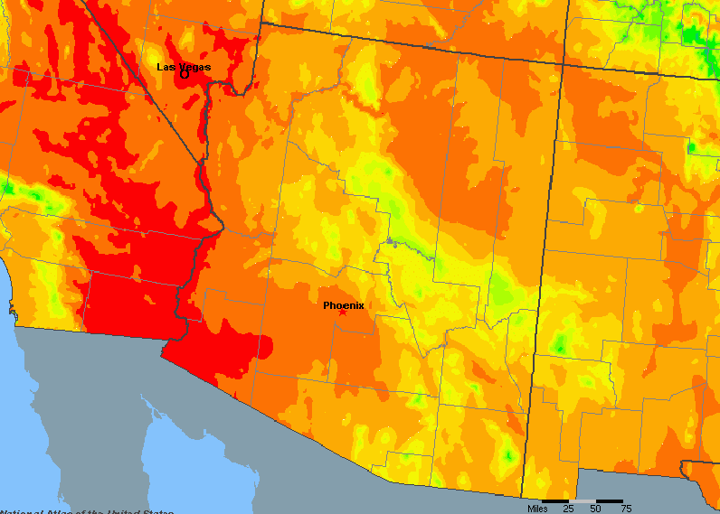 Arizona United States Average Annual Yearly Climate For