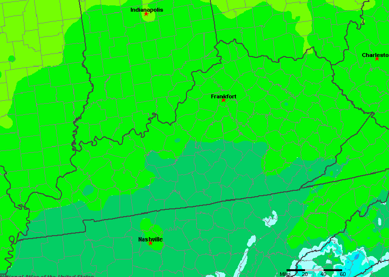 The State of Kentucky Yearly Average Precipitation