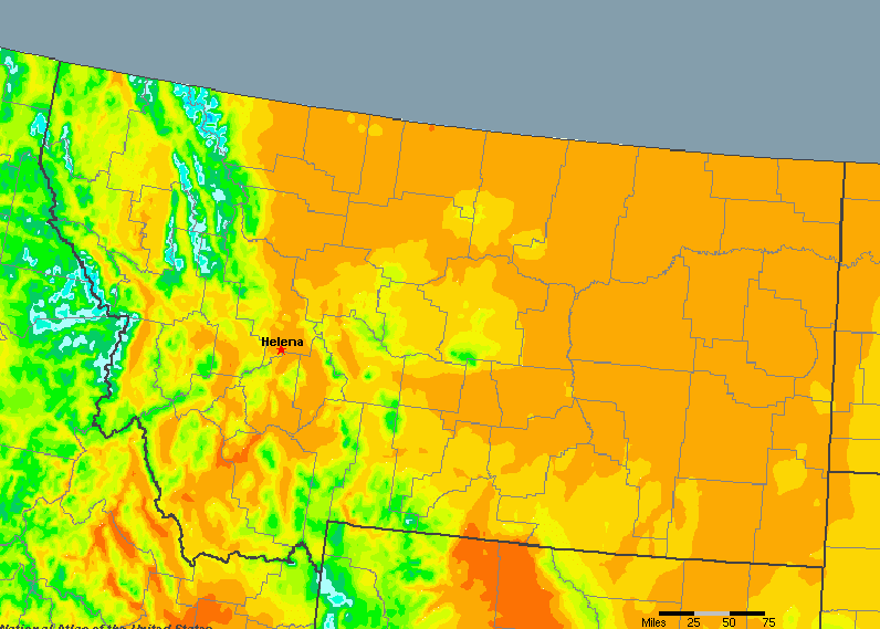 Montana, United States Average Annual Yearly Climate for ...