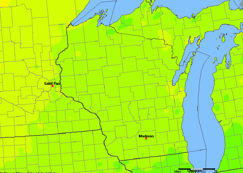 Wisconsin, United States Average Annual Yearly Climate for ...
