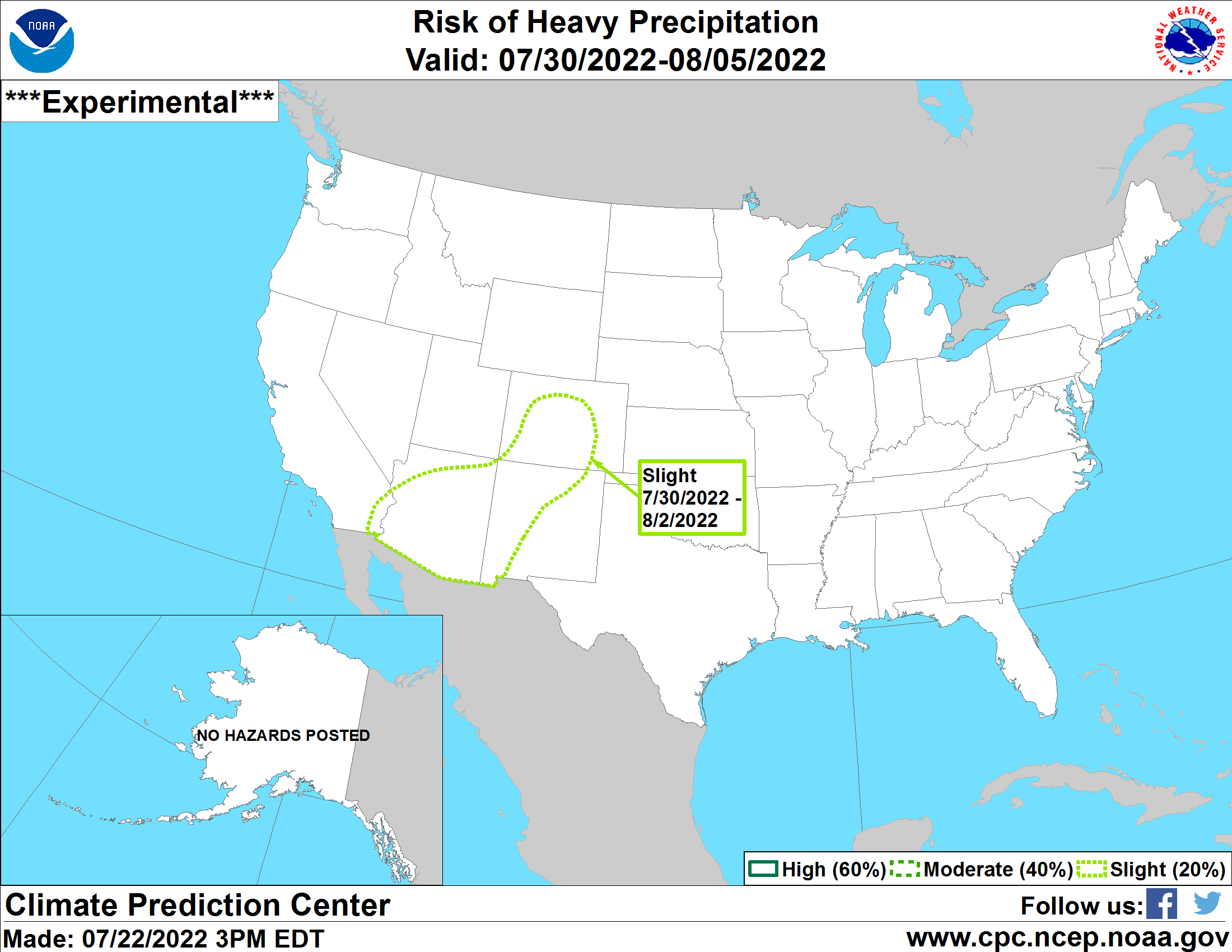 U.S. 7 Day Precipitation Outlook Map