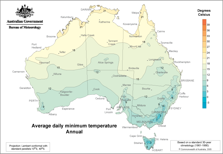 Australia Daily Minimum Temperatures
