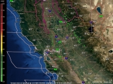 Latest Northern California Multi View Animated Doppler Radar
