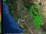 Northern California Doppler Radar Thumb