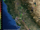 Live Northern California Doppler Radar Thumbnail Image