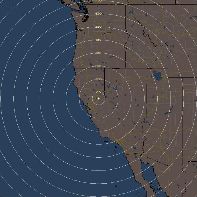 Live Lightning Detection Radar for Placerville California